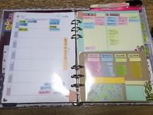 はなずきんの日記帳-ウィークリーとふせんパッド