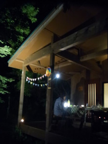 はなずきんの日記帳-夜のフラッグデコレーション