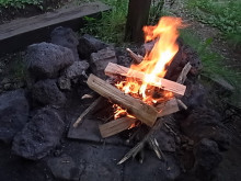 はなずきんの日記帳-焚き火着火