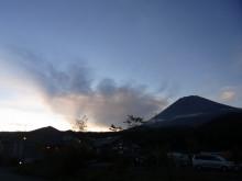 はなずきんの日記帳-夕方の富士山