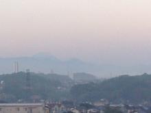 朝もや富士山