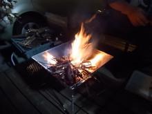 焚火台着火